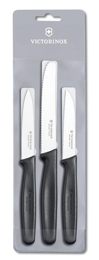 Набор Victorinox кухонный, 3 предмета, черный*