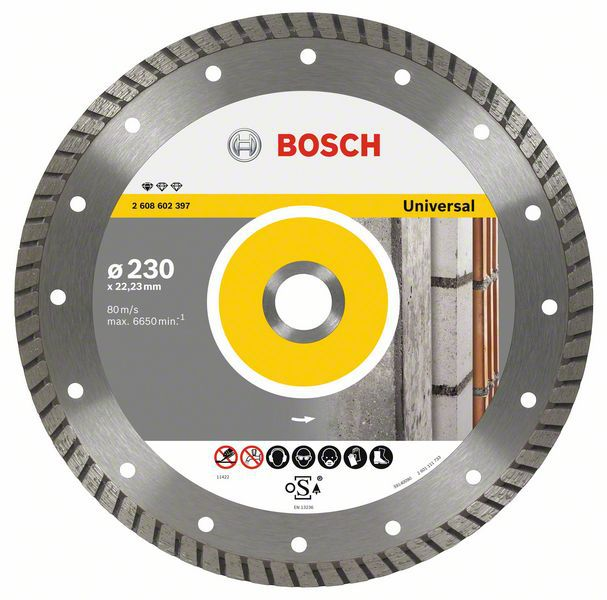 Алмазный диск Standart for Universal Turbo 230-22,23 Bosch 2608602397