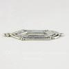 Винтажный декоративный элемент - коннектор (1-1) 28х14 мм (оксид серебра)