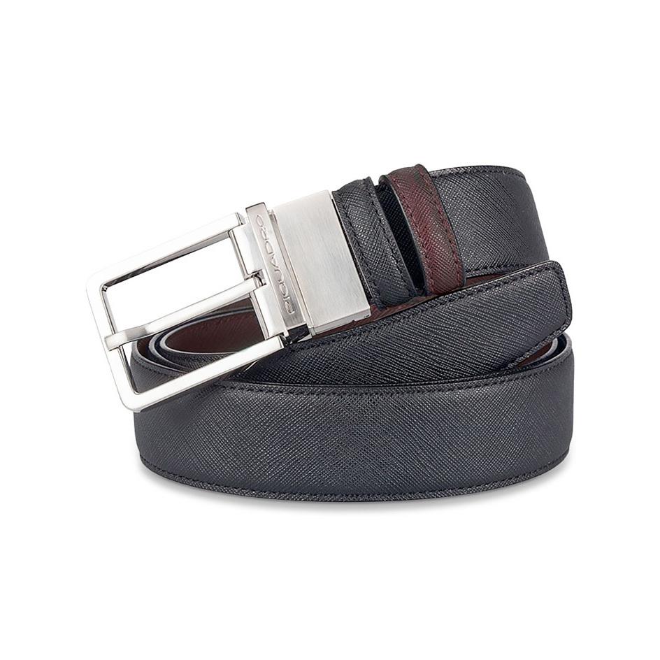 Ремень Piquadro, цвет черный/коричневый, 125x3,5 см (CU3051AY/NM)