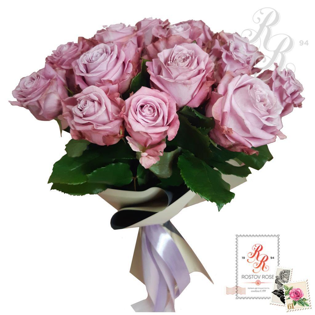 Букет 15 местных сиреневых роз