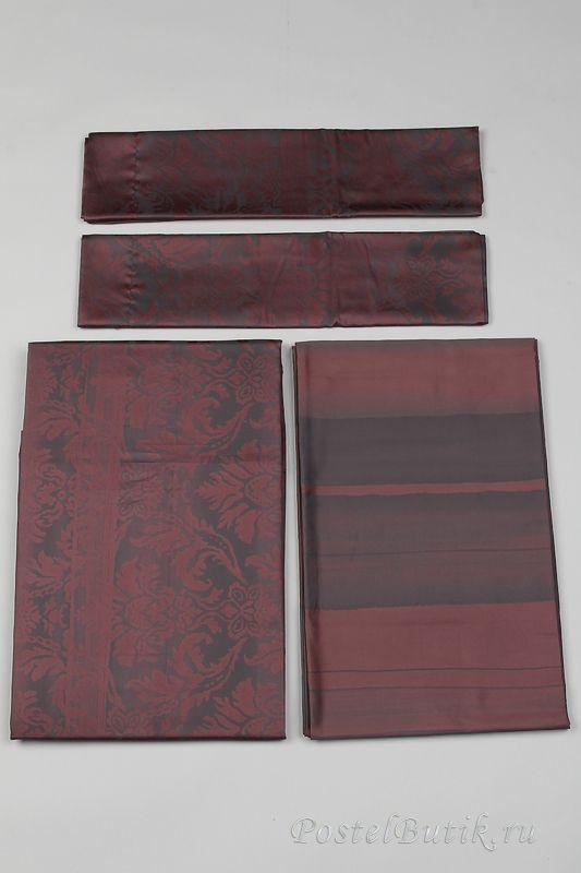 Постельное Постельное белье семейное Carrara Ba-rock коричневое elitnoe-postelnoe-belie-ba-rock-carrara.jpg
