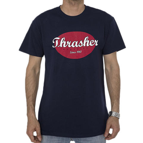 Футболка THRASHER Oval (Navy Blue)
