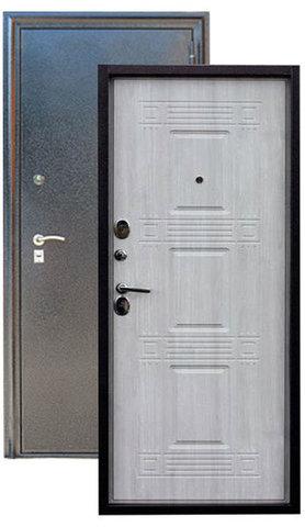Сейф-дверь Зевс Z-6, 2 замка, 1,8 мм  металл (серебро+дуб седой)