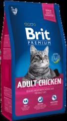 Корм для кошек Brit Premium Cat Adult Chicken курица с соусом из куриной печени