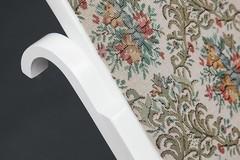 Кресло-качалка RC-8001 дерево,  Butter White,Гобелен(бежевый с цветочным рисунком)