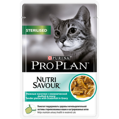 Pro plan nutrisavour sterilised with oceanfish cat (pouch gravy)