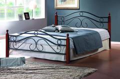 Кровать АТ-803 200x180 (King) Черный/Красный дуб