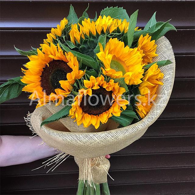 Заказать букет из подсолнухов сколько ст где купить искусственные цветы на украине