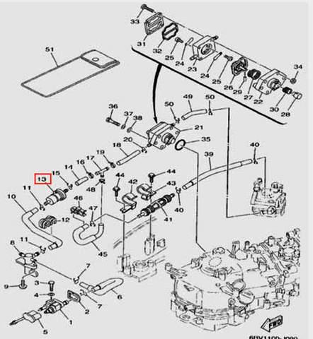 Фильтр топливный  для лодочного мотора F5 Sea-PRO(9-13)