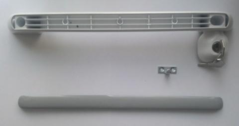 Ручка с замком  для двери ларя Снеж МЛК 337 мм