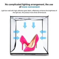 Фотобокс для предметной съемки 40 см со светодиодами