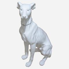 Статуэтка Decor Собака сидящая белая 86518W