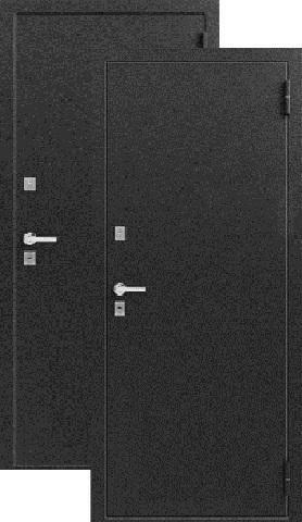 Дверь входная Легион T-1, 2 замка, 1,8 мм  металл, (чёрный муар+чёрный муар)