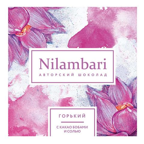 Nilambari шоколад горький с какао бобами и солью 65 г