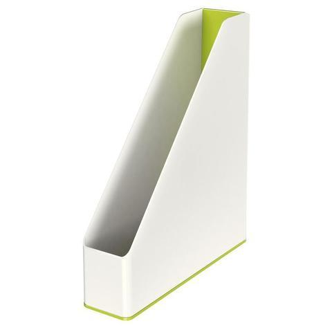 Вертикальный накопитель Leitz WOW 70мм двухцветный зеленый/белый