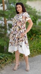 Адажио лето. Праздничное платье больших размеров. Молоко.