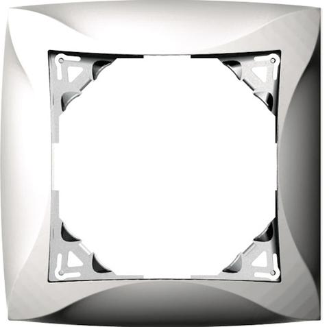 Рамка на 1 пост. Цвет Серебристый. Schneider Electric(Шнайдер электрик). Duet(Дует). WDE000301