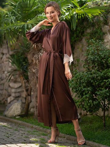 Халат женский  MIA-Amore  MARILIN Мэрилин 3109 шоколад