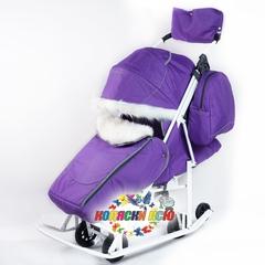Санки коляска PIKATE Снеговик «Фиалка»