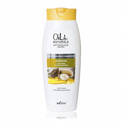 Белита Oil Naturals Шампунь с маслами арганы и жожоба Укрепление и Восстановление 430мл