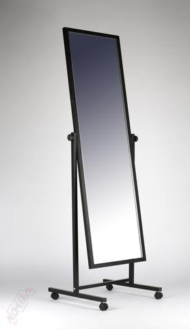Т-150-40 Зеркало напольное с колесами (черное)