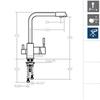 Смеситель для кухни с фильтрацией питьевой воды KITCHEN OSMOSIS 7589 - фото №3