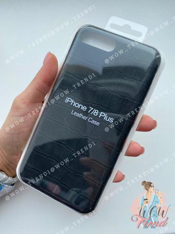 Чехол iPhone 7/8 Plus Leather case full /black/