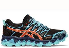 Кроссовки внедорожники Asics Gel-Fujitrabuco 7 G-TX blue женские распродажа