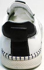 Модные спортивные туфли слипоны мужские летние Ridge Z-441 White Black.