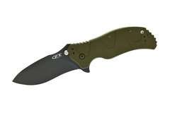 Нож полуавтоматический Zero Tolerance SpeedSafe Green Aluminum Handle K0350GRN