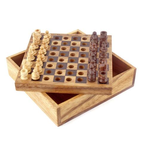 Карманные шахматы (Thai Wood) tw003
