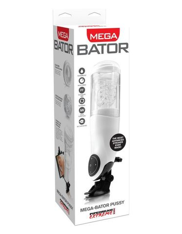 Автоматический Мега-Мастурбатор-вагина с подсветкой Pipedream Extreme Toyz  Mega-Bator Pussy фото