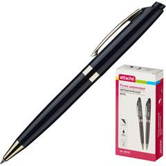Ручка шариковая Attache Boss,черный корпус,цвет чернил-черный