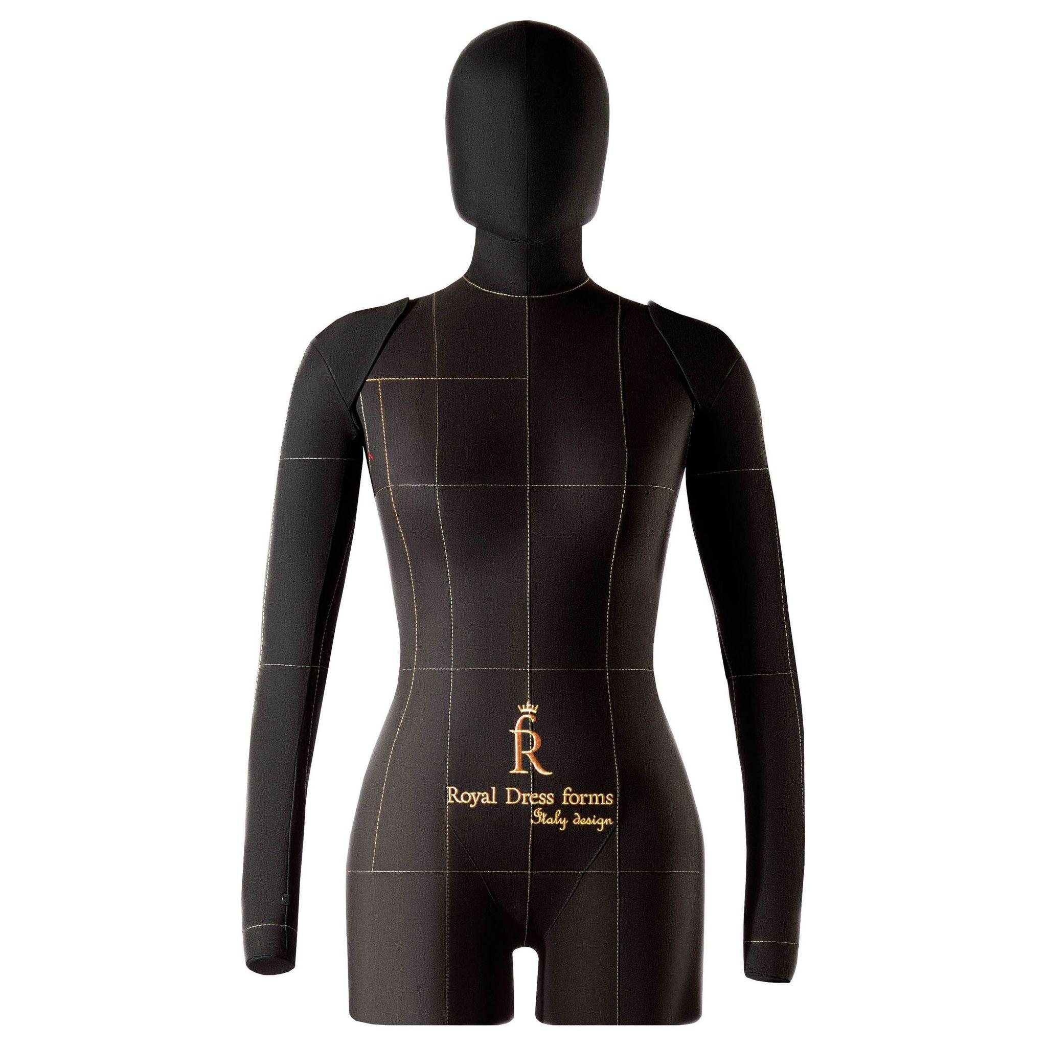 Комплект Lux: мягкий манекен Monica черный 42, Ручки, Голова, Фиксатор, Сумка
