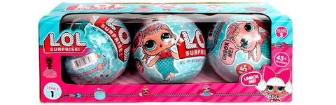Игрушка кукла-сюрприз LOL в шарике 3 шт