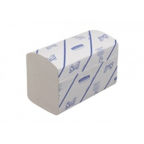 Полотенца бумажные д/дисп KK Scott Interfold 1сл бел 320 лист 15 пач. 6677