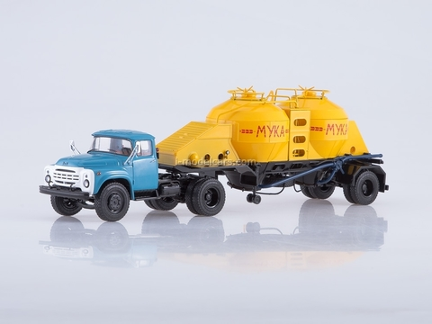 ZIL-130V1 with semitrailer flour carrier K4-AMG 1:43 Start Scale Models (SSM)