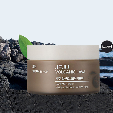 THE FACE SHOP Jeju Volcanic Lava Pore Mud Pack, 100 ml