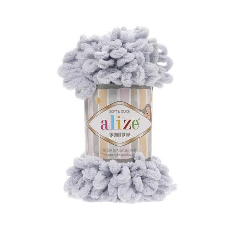 Купить Пряжа Alize Puffy Код цвета 416 Светло-серый | Интернет-магазин пряжи «Пряха»