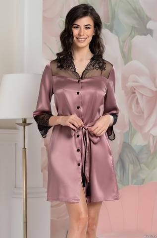 Рубашка халат на пуговицах MIA-Amore OLIVIA ОЛИВИЯ 3647 сухая роза