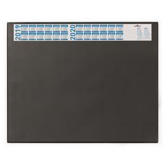 Коврик на стол DURABLE 7204-01 с календ. 52х65 с прозр.лист черный Германия