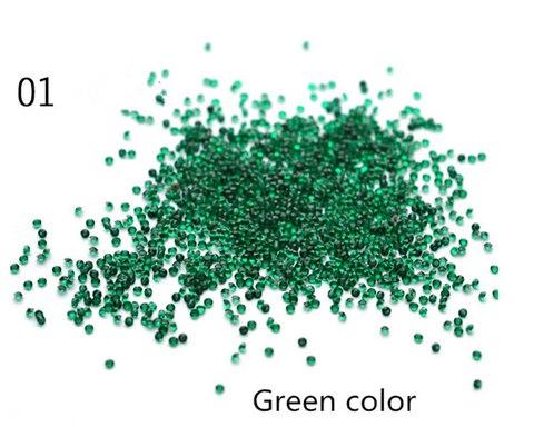 Хрустальная крошка зелёная №01