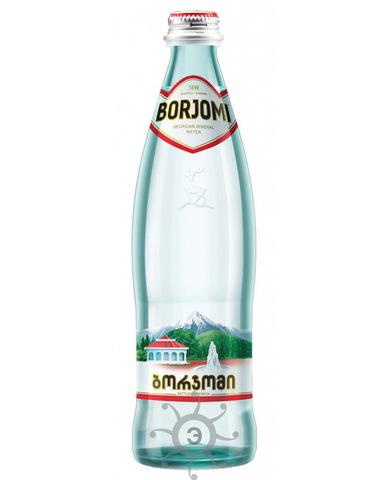 Вода Боржоми газированная, 0,5л (стекло)