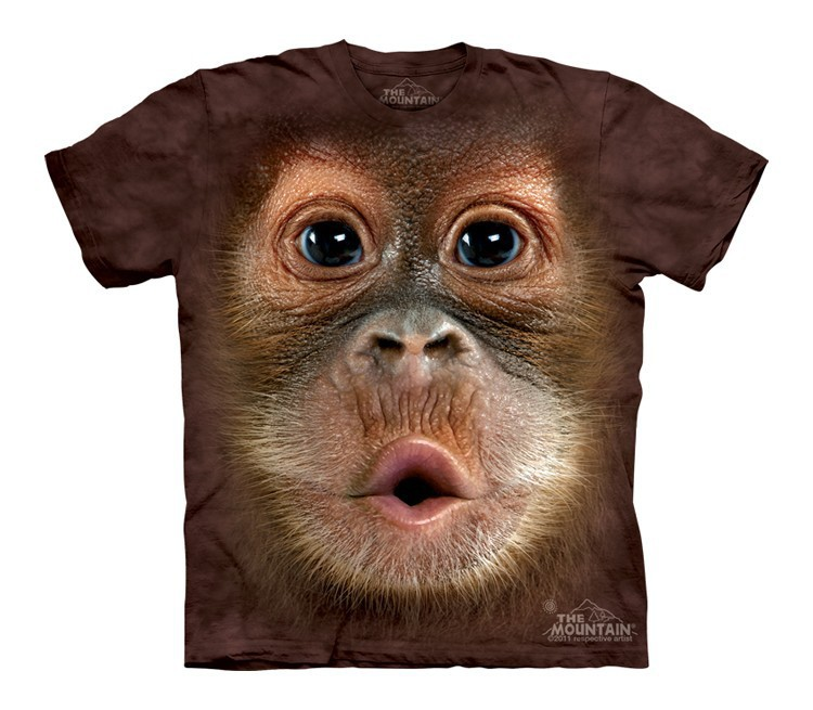 Футболка детская Mountain с изображением лица детеныша орангутана - Big Face Baby Orangutan