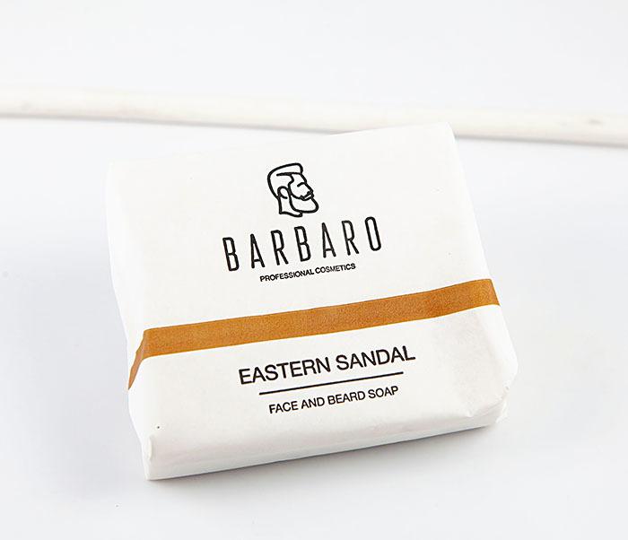RAZ1012 Матирующее мыло для лица и бороды «Barbaro Eastern sandal» (90 гр)