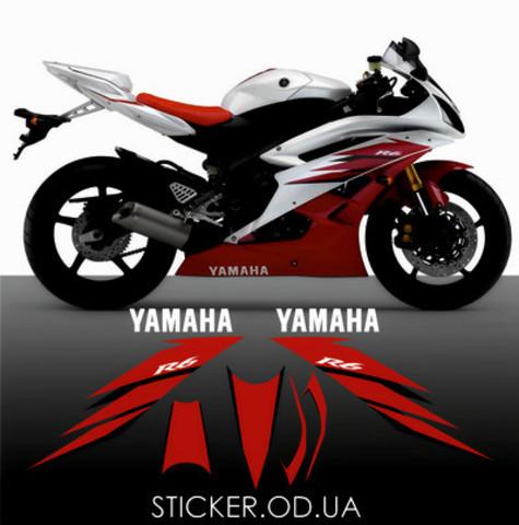 Набор виниловых наклеек на мотоцикл YAMAHA YZF-R6 2006, ORACAL® 751C