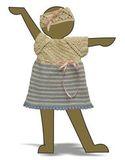 Вязаное платье с полоской - Демонстрационный образец. Одежда для кукол, пупсов и мягких игрушек.