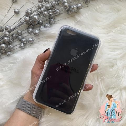 Чехол iPhone 6+/6s+ Silicone Case /black/ черный 1:1