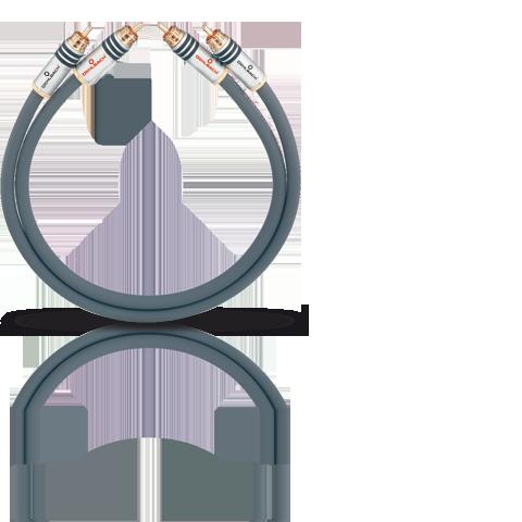 Oehlbach NF14 Master RCA 2x1.25m, кабель межблочный
